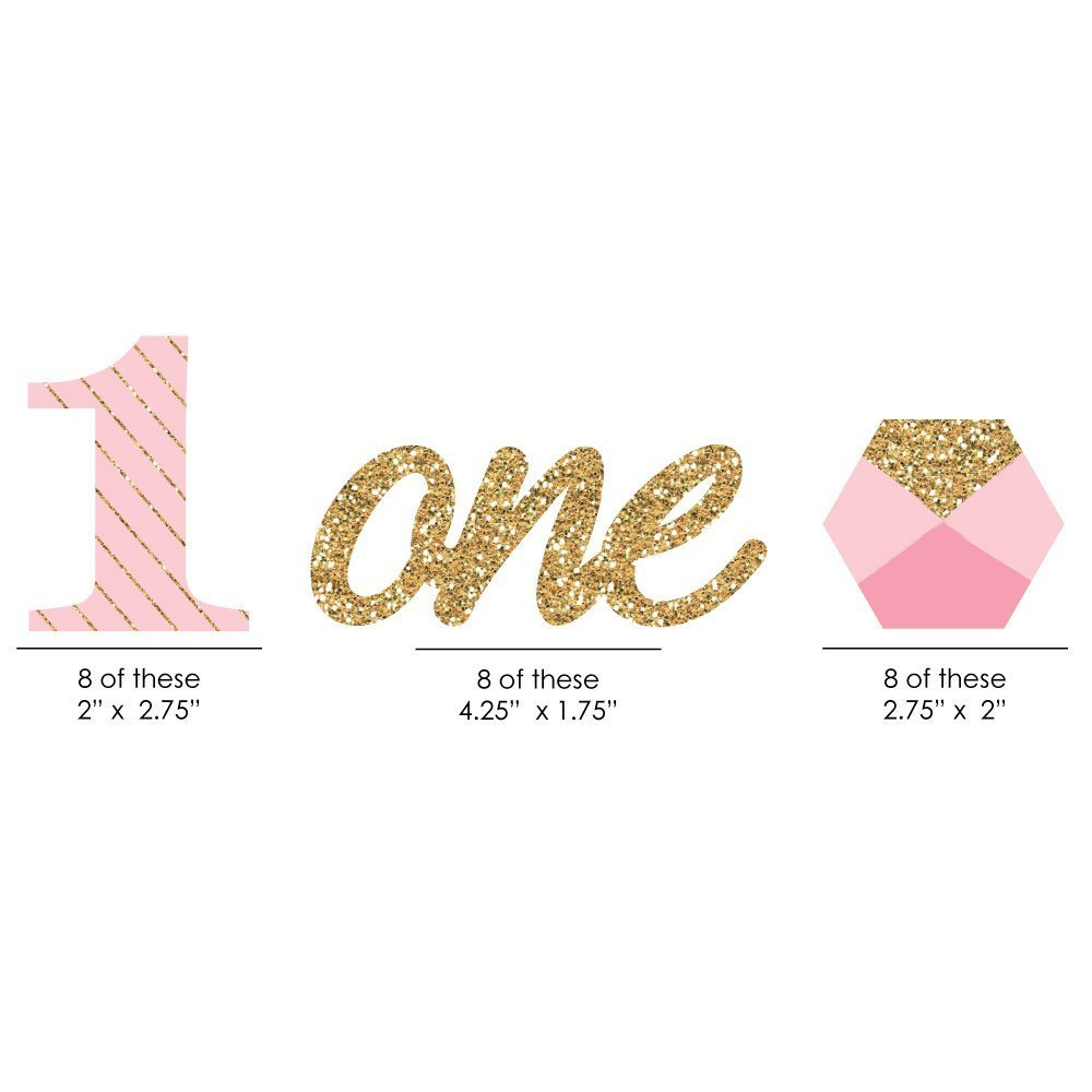 amazon 1st birthday girl fun to be one diy shaped party cut