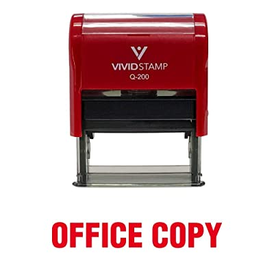 Office Copy Self Inking Rubber Stamp (Red Ink) - Medium: Office Products