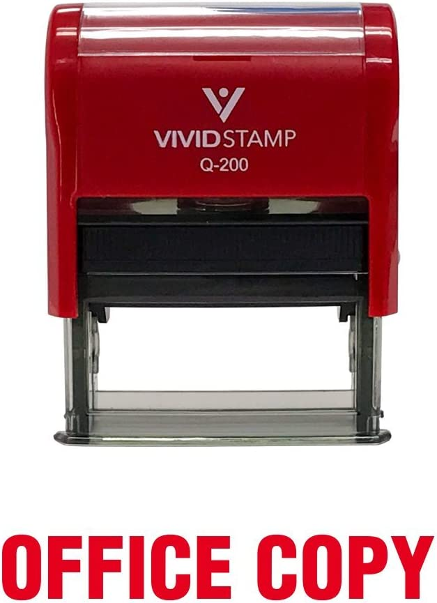 Office Copy Self Inking Rubber Stamp (Red Ink) - Medium
