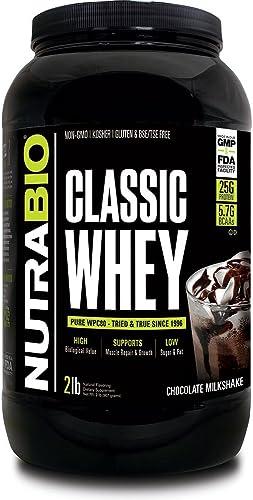Nutrabio Classic Whey Protein Powder Chocolate Milkshake 2 lb