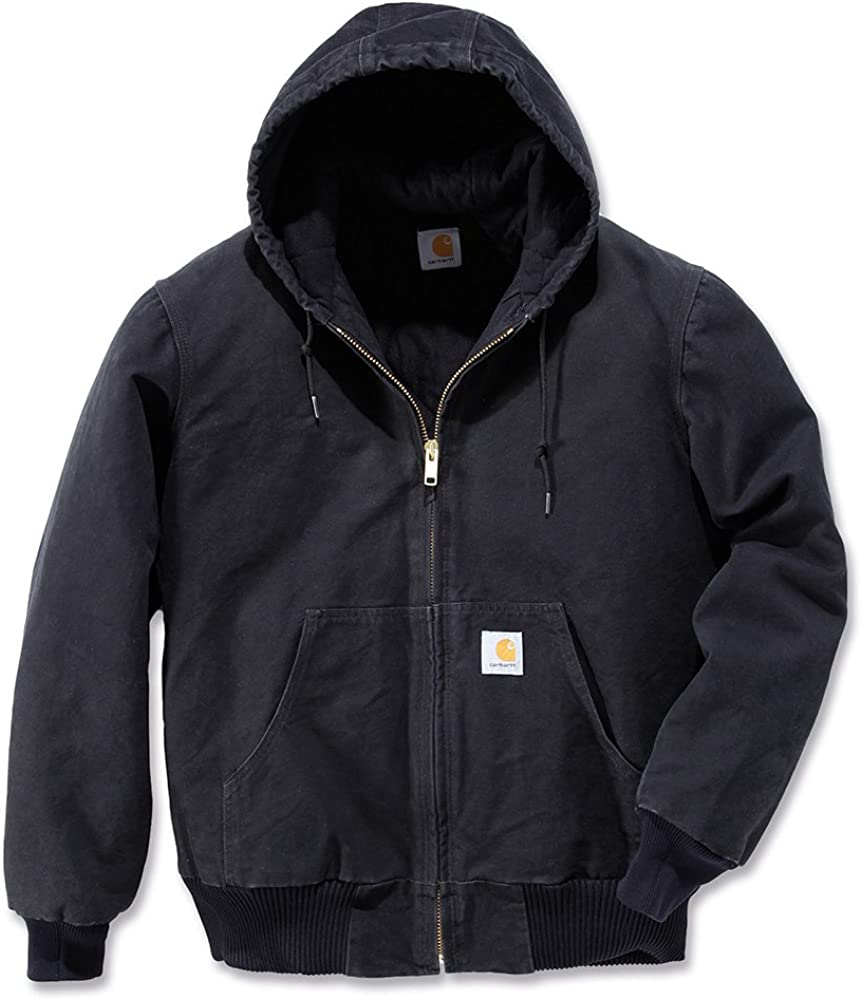 Carhartt Men's Sandstone Active Jacket at  Men's Clothing store: Work Utility Outerwear