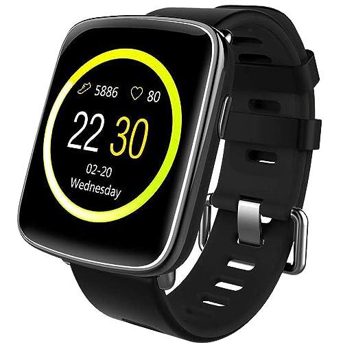 willful Smartwatch con Pulsómetro Impermeable IP68 Reloj Inteligente con Cronómetro Monitor de sueño Podómetro Calendario Control Remoto de música Pulsera Actividad para Android y iOS Negro