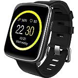 Willful Smartwatch con Pulsómetro,Impermeable IP68 Reloj Inteligente con Cronómetro, Monitor de sueño,Podómetro,Calendario,Control Remoto de música,Pulsera Actividad para Android y iOS