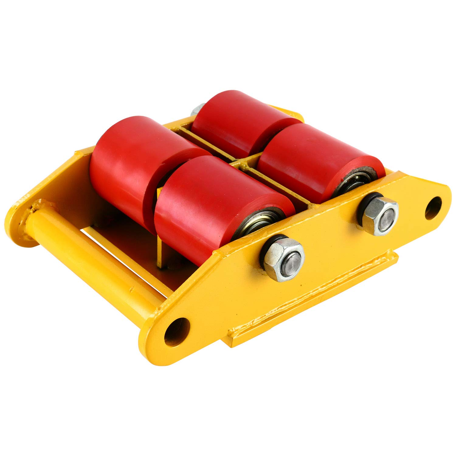 YaeTek Industrial Machinery Mover 13200 lbs 6 Tons Machinery Skate Dolly with 4 Rollers Cap 360 Degree Rotation (Yellow) by YAE TEK (Image #4)