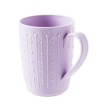 fengg2030shann gruesos vasos de plástico con una pareja de tazas de mango de cepillo de lavar