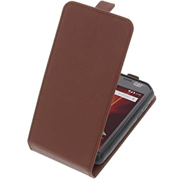 newest b229f a5fb5 foto-kontor Cover for CAT S31 flip-style mobile phone case brown