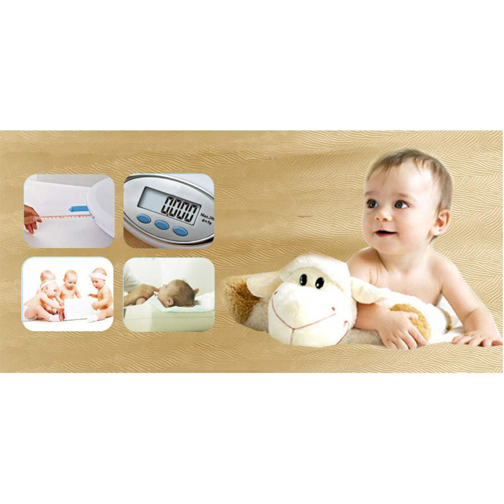 Digital Baby Weighing Scale Tape Measure Accurate Scale 20 Kg//44 Lbs Tare and Weigh Digital Scale with Large Backlit LCD