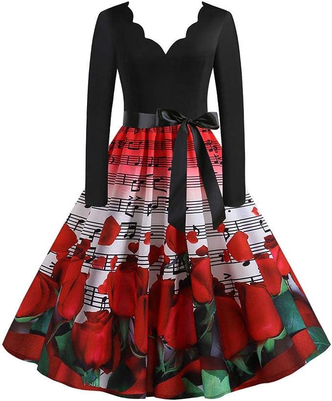 Amazon.com: TOTOD Vestido vintage para mujer, años 50 ...