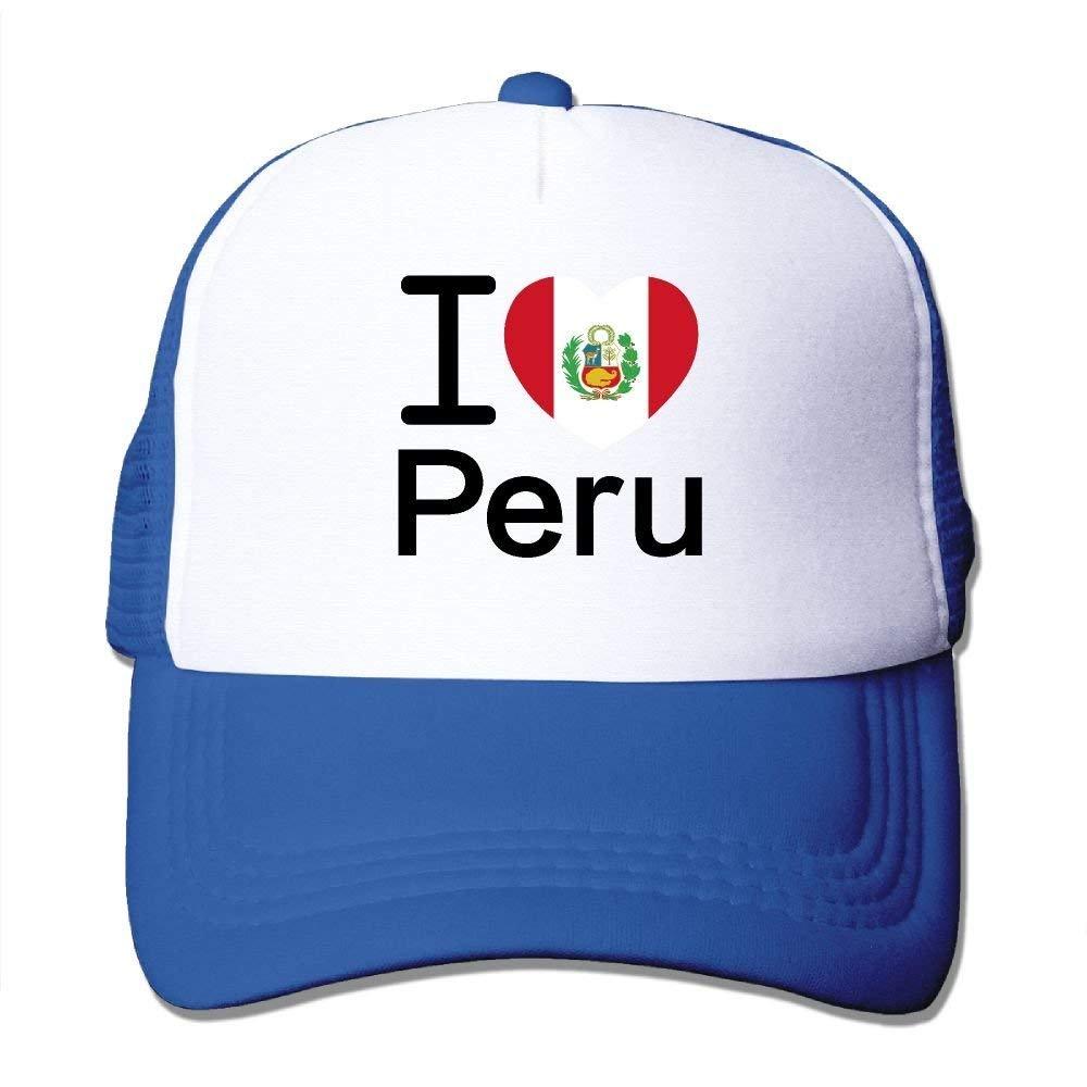 Amo la gorra de béisbol de moda de la bandera de Perú para hombres ...