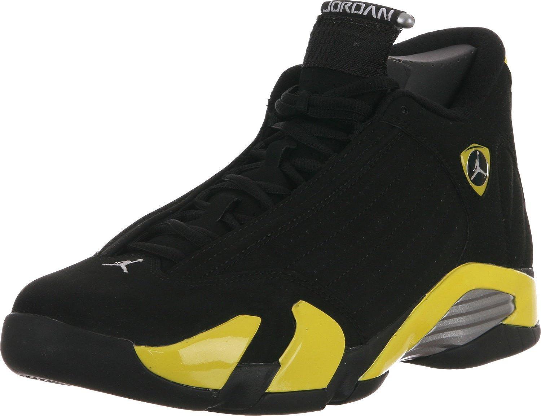 quality design e1df4 f257d Jordan Mens Air 14 Retro Black/Vibrant Yellow-White 487471-070 (15,  Black/Vibrant Yellow-White)