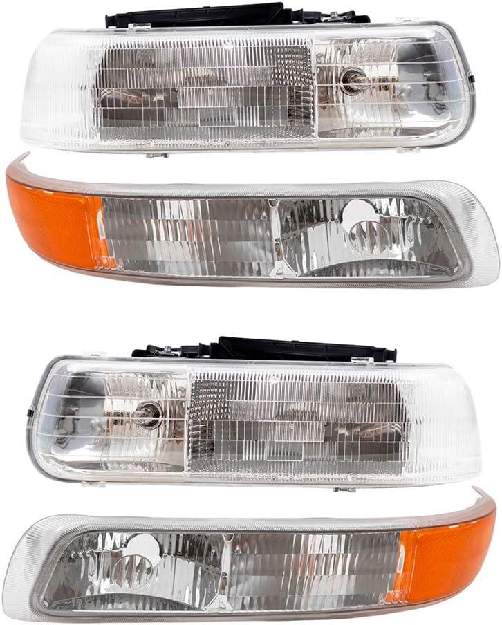 AUTOANDART Aftermarket Replacement (4 Pc Set Headlights)