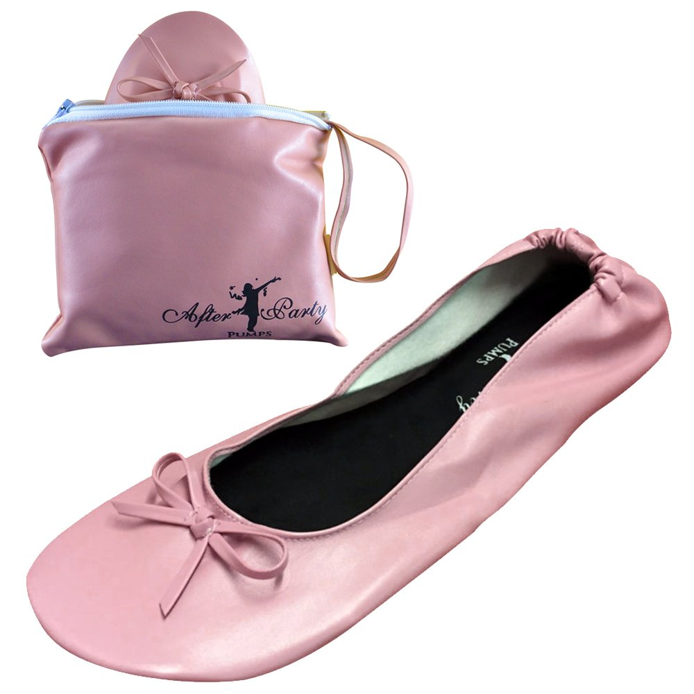 ASVP Shop Womens Foldable Portable Pumps Flats Ballet Shoes with Carrier Pouch Bag Perfect for Weddings and Parties by Princess Flats