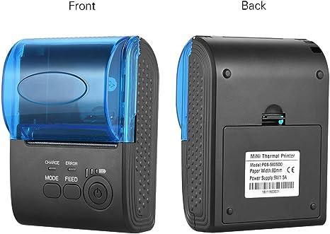 ZUEN Impresora térmica, impresoras portátiles Inalámbrico para ...