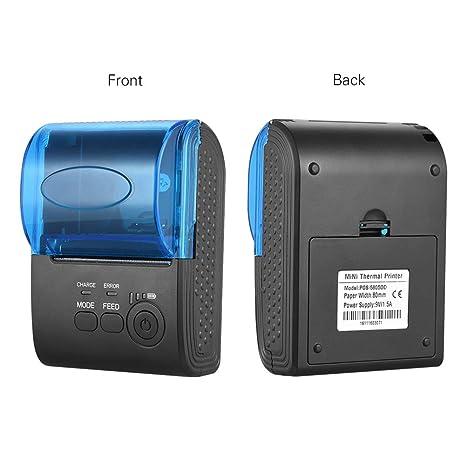 ZUEN Impresora térmica, impresoras portátiles Inalámbrico ...