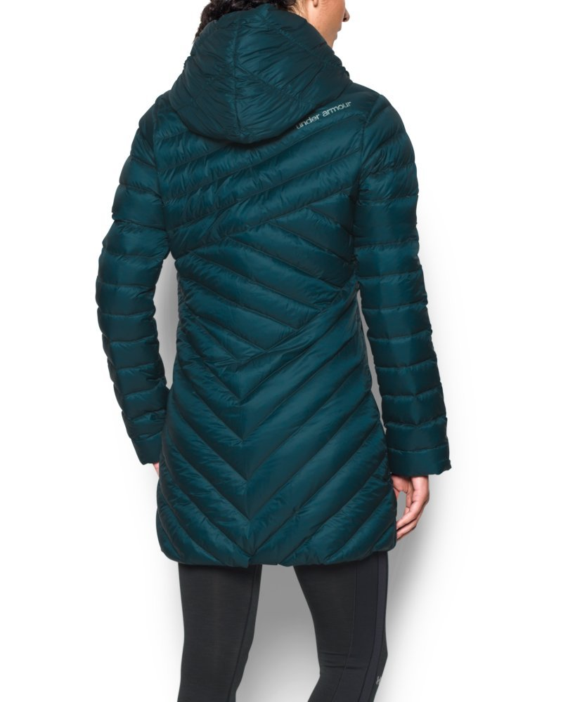 Under Armour Women's Storm ColdGear Infrared Uptown Parka, Nova Teal/Aqua Falls, Small by Under Armour (Image #3)