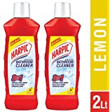 Harpic Bathroom Cleaner Lemon, 1 L (Pack of 2)