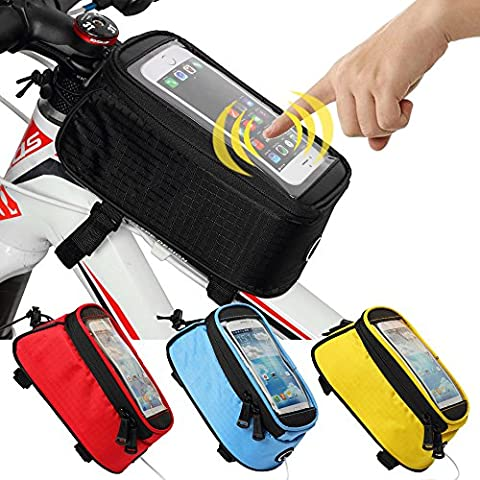 JOY COLORFUL Bicycle Bags Front Tube Frame Cycling Packages Touch Screen Mobile Phone Professional Accessories, Medium, - Schwinn Bike Accessories