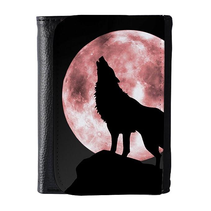 Amazon.com: yex de los hombres King Wolf portafolios de piel ...