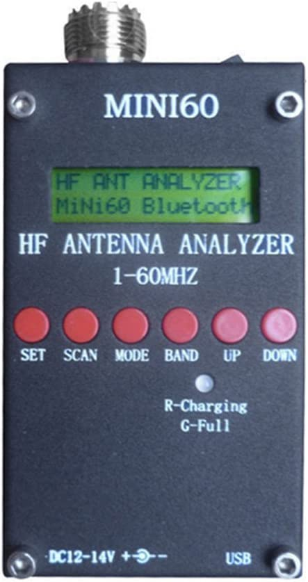 SODIAL Nuevo Mini60 Sark100 HF ANT SWR Analizador de Antena Medidor Bluetooth Android APP