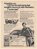 1975 Richard Petty McGraw-Hill NRI School for Auto Mechanics Print Ad (64823)