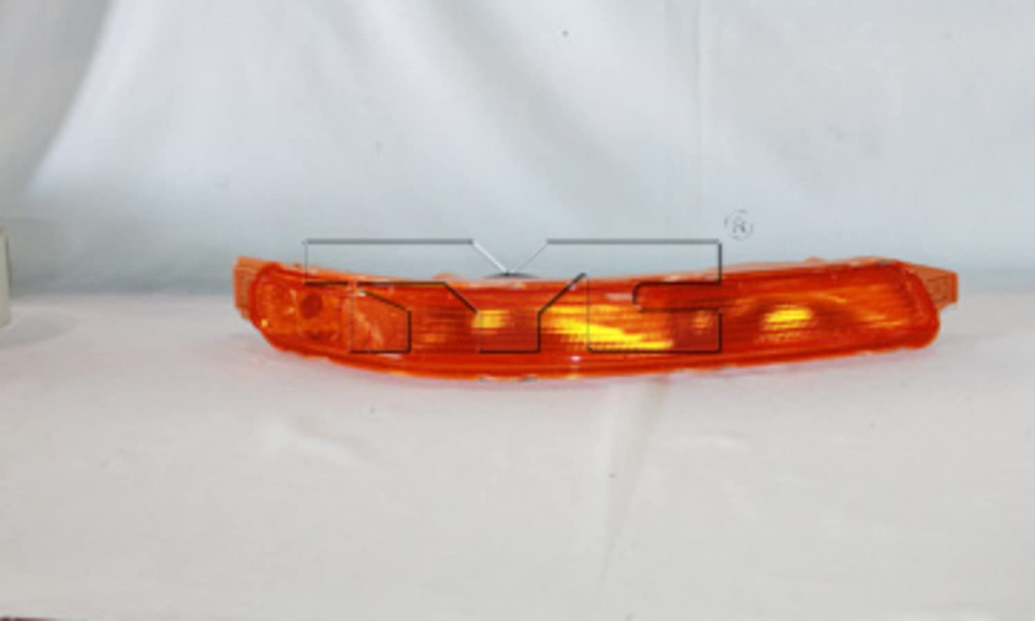 TYC 18-5953-00-1 Compatible with CHEVROLET Aveo Front Right Replacement Side Marker Light