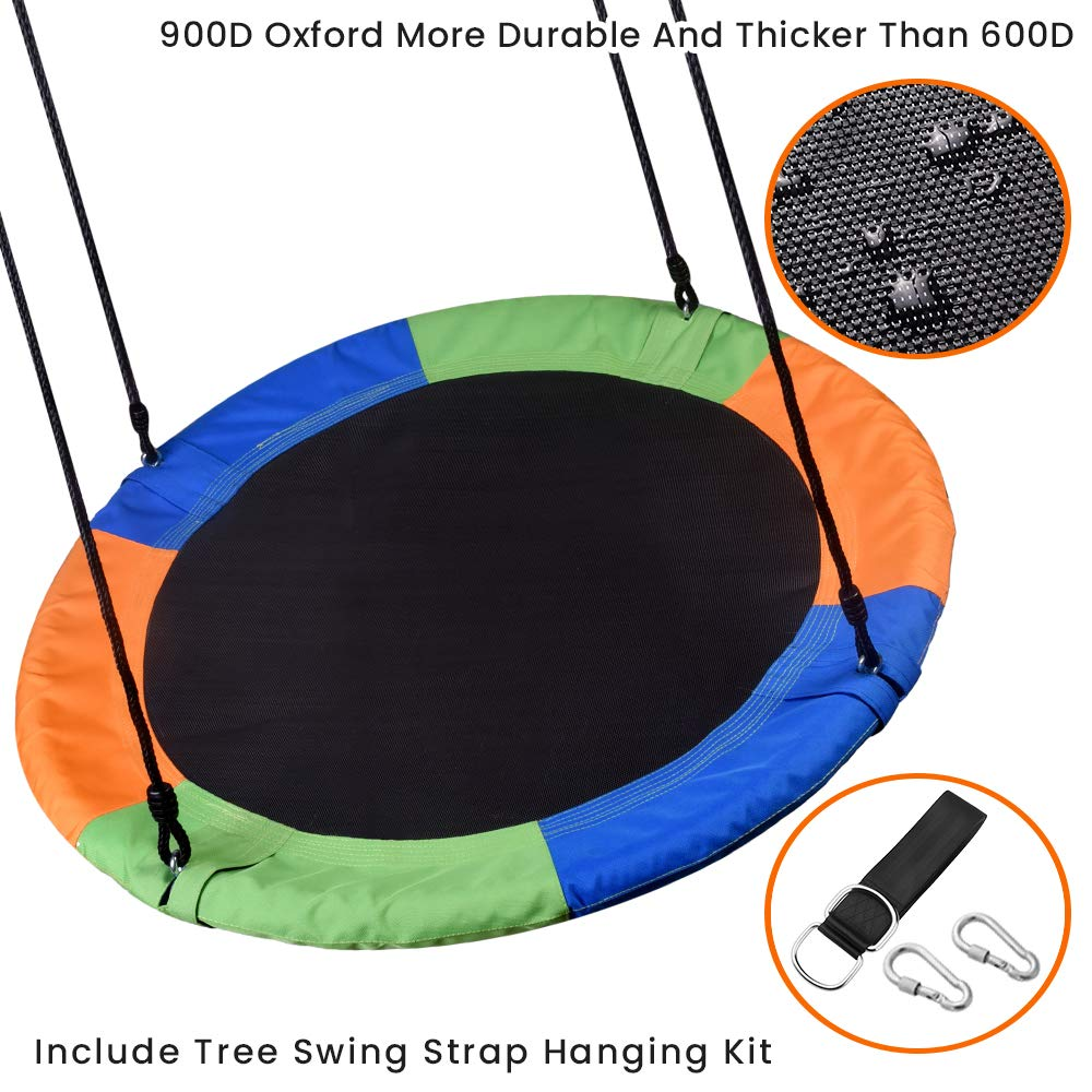 WONDERVIEW Tree Swing, Outdoor Swing with Hanging Strap Kit, 40 Inch Diameter 600lb Weight Capacity, Great for Playground Swing, Backyard and Playroom (MX) by WONDERVIEW