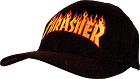 2e5f2090da8 Amazon.com  Thrasher Flame Logo Snapback  Black   Sports   Outdoors