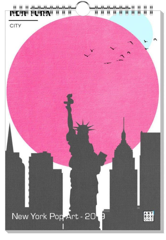 ArtboxONE Kalender 2019 New York Typography Wandkalender A2 Städte New York B07H92FTZC    | Angenehmes Aussehen
