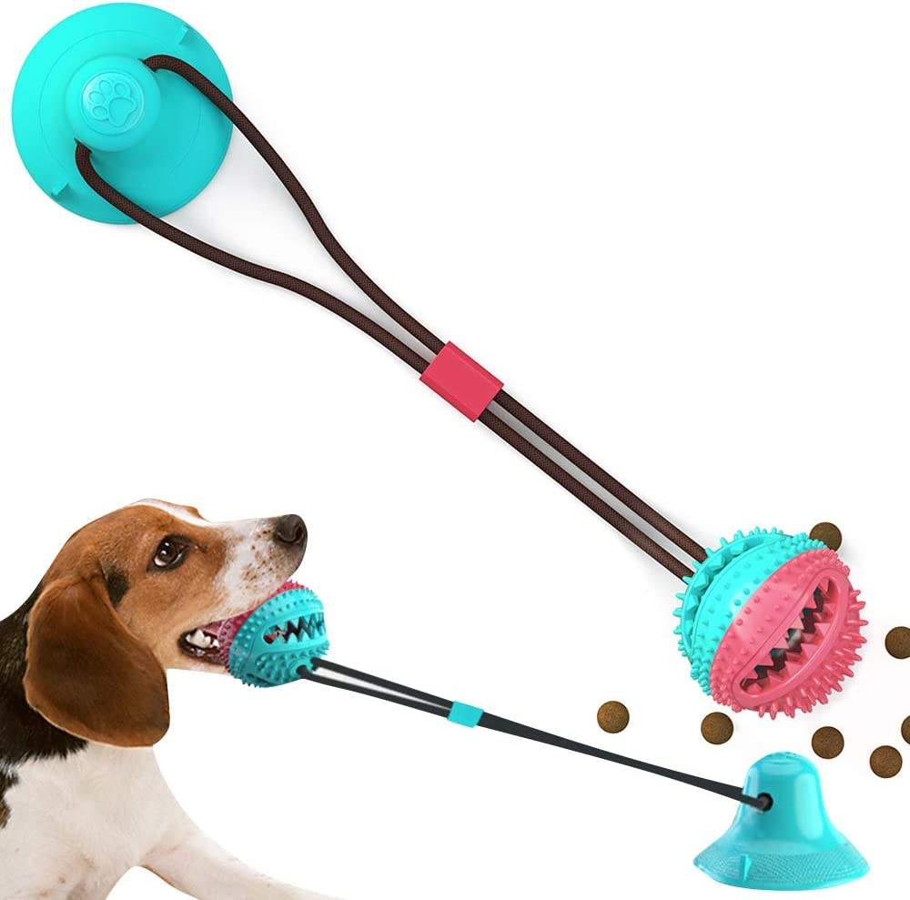 BVAGSS Pet Molar Juguete Multifuncional para mordedura de Molar para Masticar Molar Limpieza De Dientes XH053 Red /& White