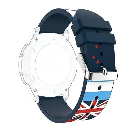 Bracelet Gear S3 Frontier Rosa Schleife Montre Connectee S3 Bracelet Straps de Sport Band Silicone Souple