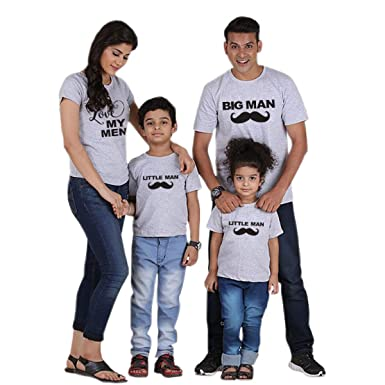 16773b18f0 Image Unavailable. Image not available for. Color: Family Matching Clothes  Look Father Mother Son Daughter Outfits Clothing Tshirt mom Mum Mommy Daddy  and