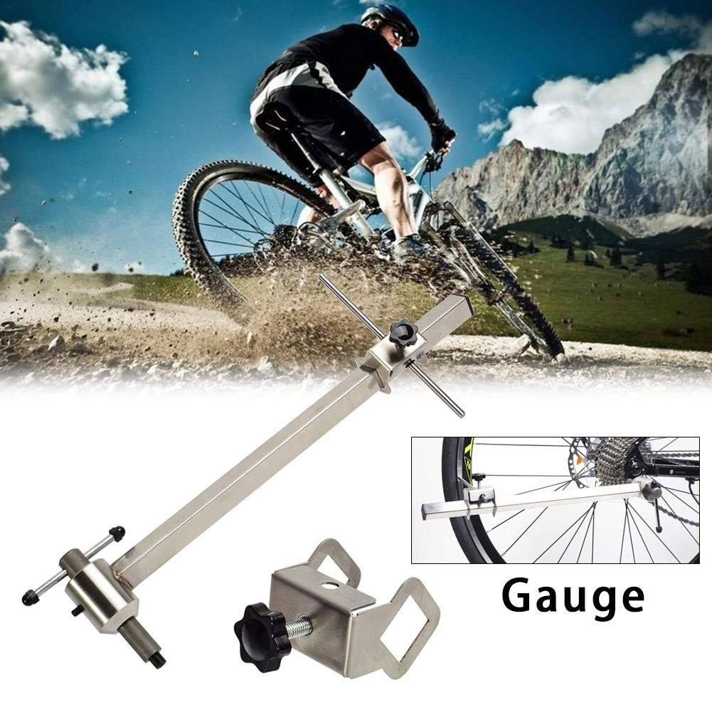 Rainrain27 Silver Derailleur Gear Hanger Alignment Gauge Tool,for Mountain Bike Rear Lifting Lug Correction by Rainrain27 (Image #2)