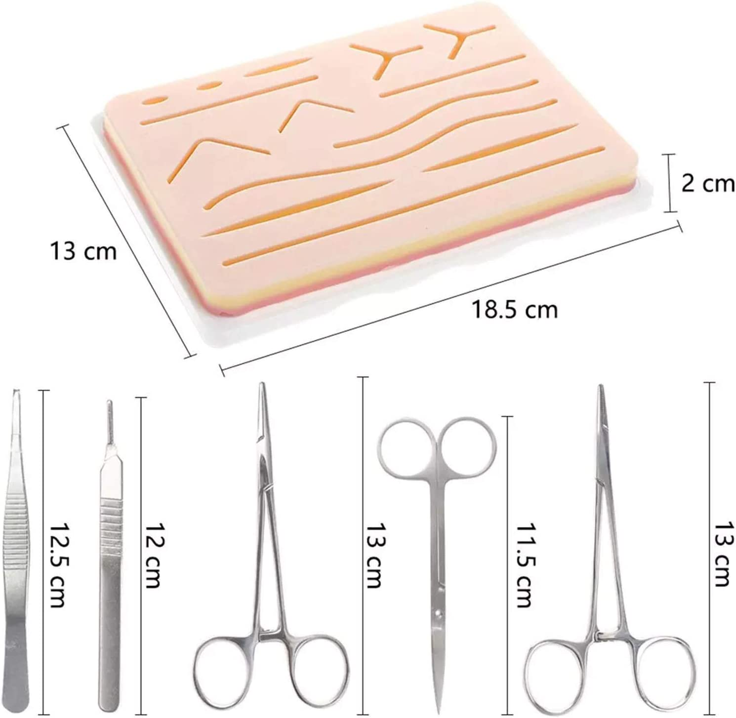 Perfect for Practice 21-Pieces Complete Kit Include Durable Tools Kit and Threads Demonstration AOXING Practice Kit for Students