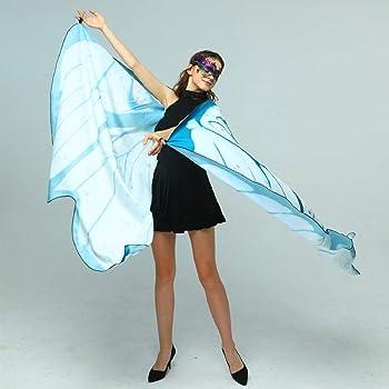DEELIN Chal de mariposa para mujeres,Butterfly Shawl Wings Lady ...