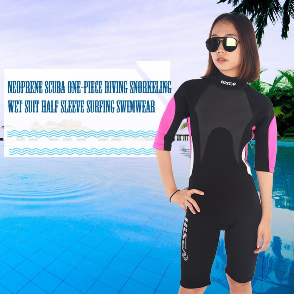 Amazon.com  T-best Scuba One-Piece Diving Snorkeling Wet Suit Half Sleeve  Neoprene UV Protection Surfing Swimwear (M-XXL)  Sports   Outdoors d518c5414