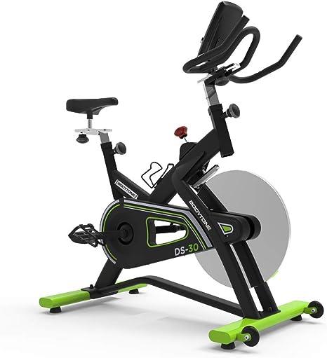 BT BODYTONE - DS-30 - Bicicleta Estática Semi Profesional de Ciclo Indoor para Fitness y Spinning - Regulador de Resistencia, Pulsómetro y Display - Peso Máximo Usuario 120 KG.: Amazon.es: Deportes y aire libre