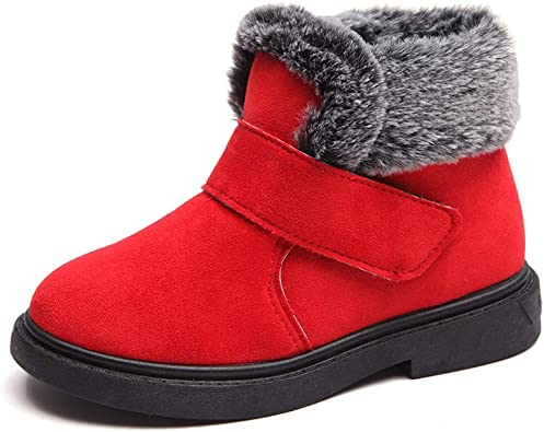 ZZBO Baby Girls Boys Cozy Fleece Cotton Booties Winter Warm Waterproof Plush Toddler Newborn Infant Snow Boots Bowknot Non-Skid Bottom Soft Sole