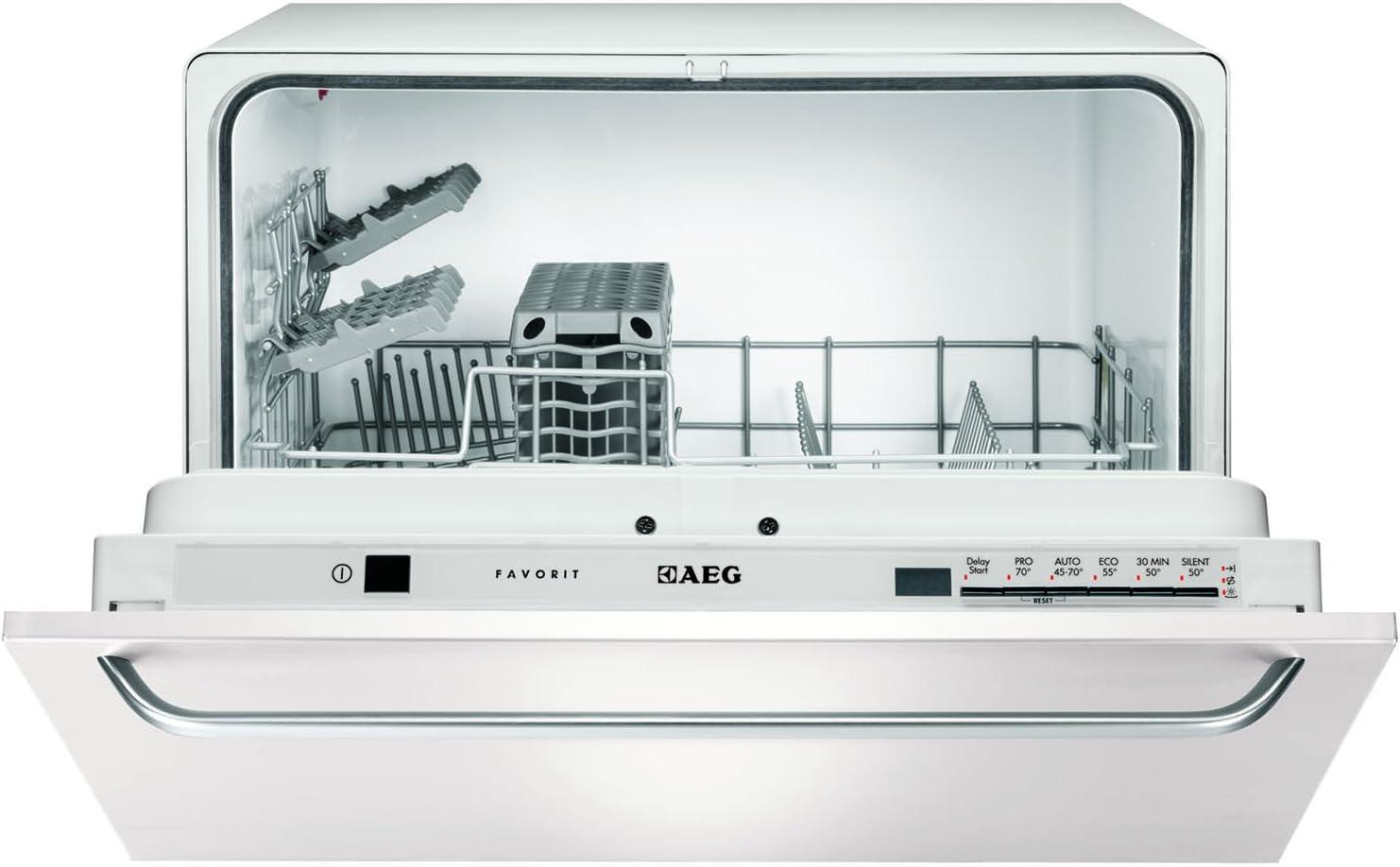 AEG F55200VI0 6cubiertos A lavavajilla - Lavavajillas (Acero ...