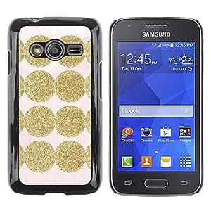 TopCaseStore / la caja del caucho duro de la cubierta de protección de la piel - Shiny Pink Pattern Dot - Samsung Galaxy Ace 4 G313 SM-G313F