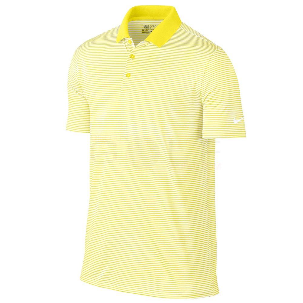ナイキ ゴルフ DRI-FIT ヴィクトリー ミニ ストライプ 半袖ポロシャツ B0077TOEQ8 Small|Yellow Strike/White Yellow Strike/White Small