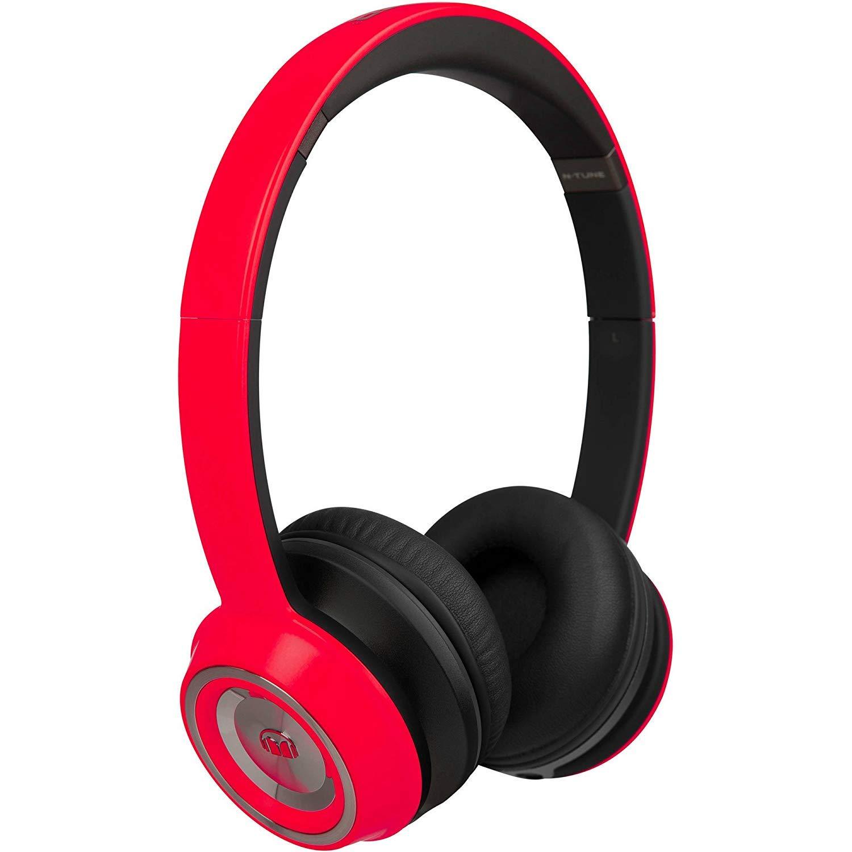 Monster N-Tune 高性能有線オンイヤーヘッドホン 3.5mmプラグ付き, NTUNE-RDBK-BULK  レッド B07P5CBL7T
