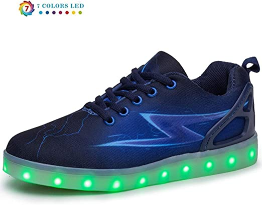 ZYDJ XZ Luminous Flashing Sneakers Women's Men's LED Lights