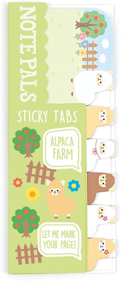 Ooly Note Pals Mini Sticky Tabs - Alpaca Farm - 90 Paper Tabs