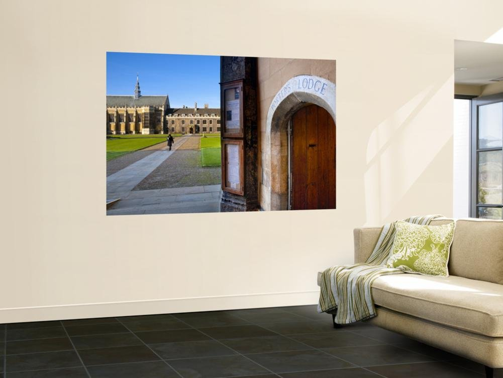 Uk, England, Cambridge, Cambridge University, Trinity College, Porter's Lodge Wall Mural by Alan Copson 48 x 72in