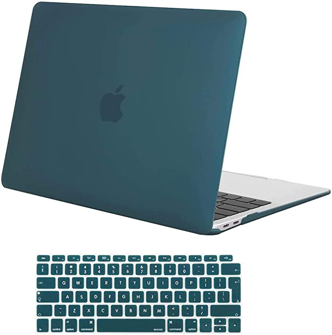 MOSISO Funda Dura Compatible con MacBook Air 13 Pulgadas 2020 2019 2018(A2337 M1 A2179 A1932)con Touch ID,Ultra Delgado Carcasa Rígida Protector de ...