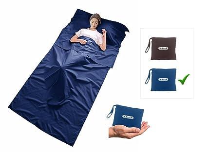 Saco de dormir (interior de microfibra forma rectángular, ideal para hotel, ciudad,