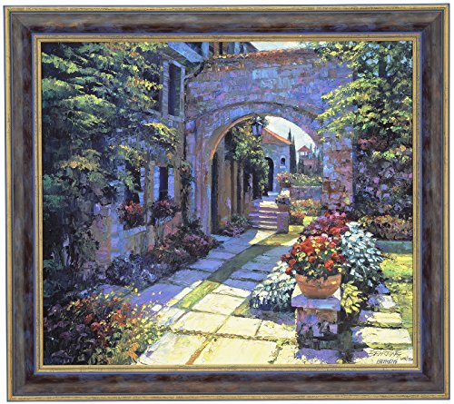 [Howard Behrens VILLA MORNING Canvas Framed Signed & Numbered Limited Edition CANVAS] (Howard Behrens Villa)