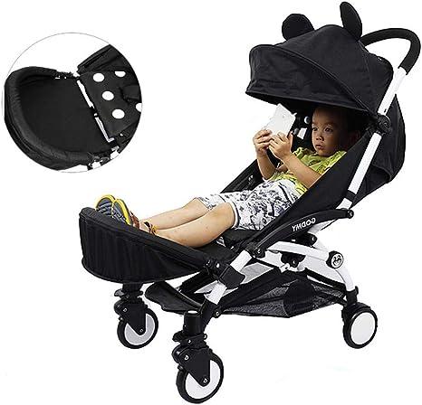 Opinión sobre Cochecito infantil Extensión de pierna Booster Cochecito de bebé Reposapiés Asiento Tablas para Plegable Ligero Cochecito Accesorios
