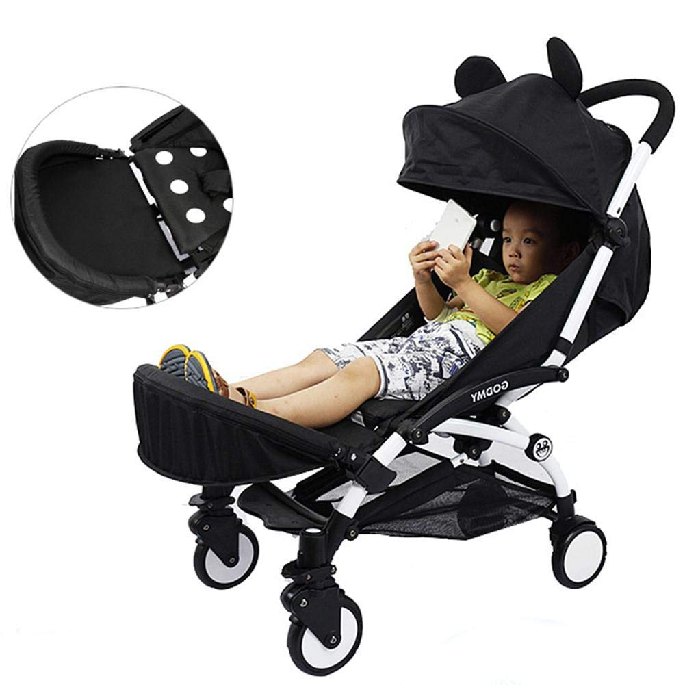 Baby Stroller Extended Booster Seat Footrest Infant Umbrella Universal Pushchair Extension Footboard Baby Stroller Accessories, Black Welltobuy-555