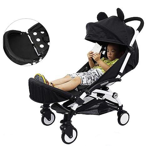 Patinete universal para coche de paseo Cochecito de Bebé Apoyabrazos Soporte de los pies Cochecito con Paraguas Accesorios para el carro de bebé ...